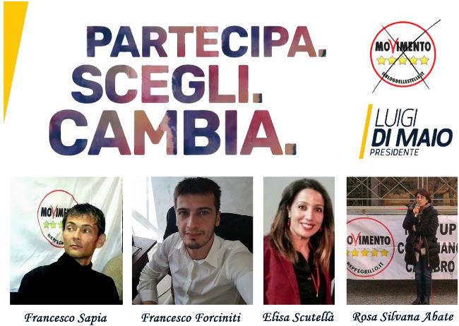 Candidati del m5s al parlamento italiano for Lavorare al parlamento italiano